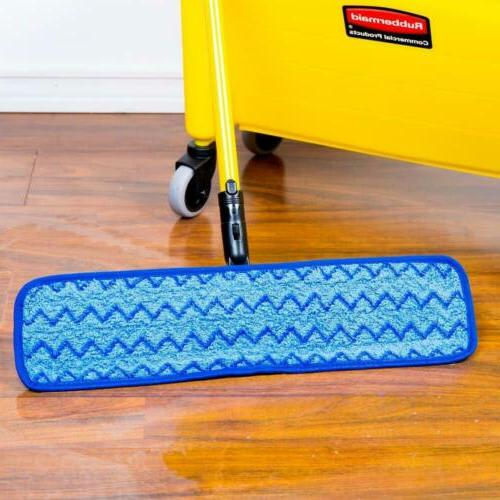 Rubbermaid HYGEN Microfiber Damp Room Pad, 18-inch,...