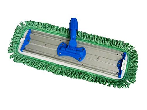 """2-pack 18"""" Green Dust Mop Pads Commercial"""
