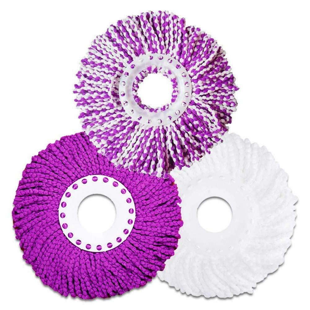microfiber cotton spin mop heads replacement