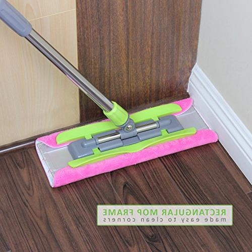 LINKYO Microfiber Floor Mop - Flat Mop and Extension or Dry