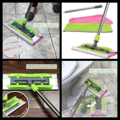 LINKYO Hardwood Mop Flat Mop Extension Wet or Dry Cleaning