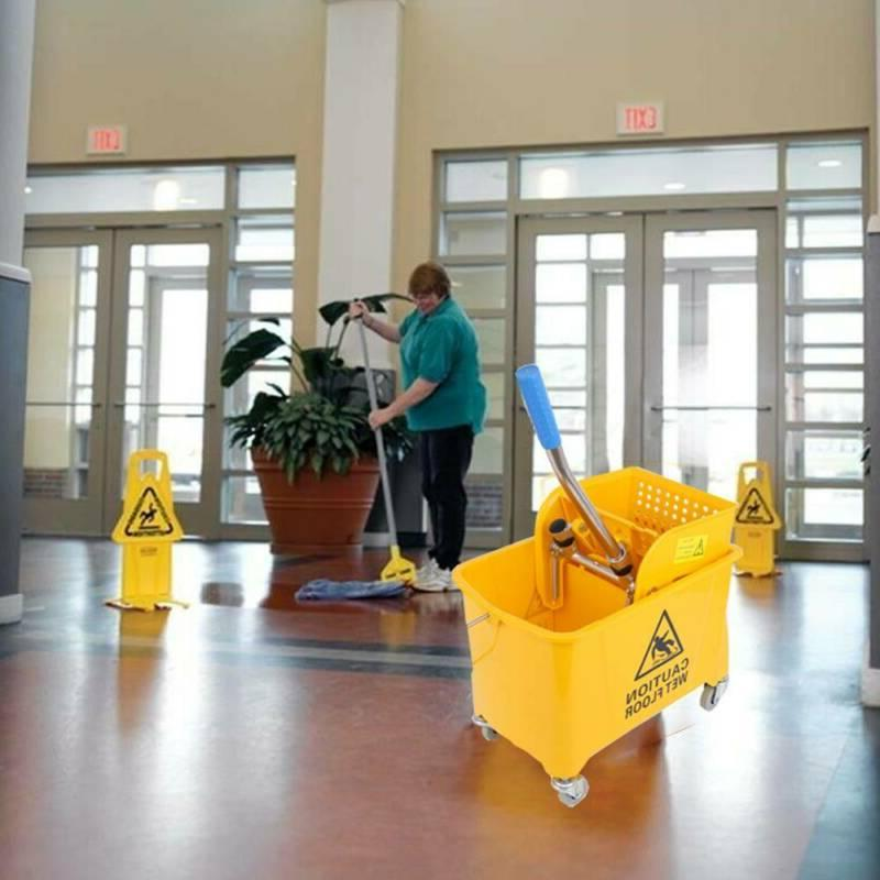 Samger 5 Gallon Mini Mop Bucket w/Wringer Combo Commercial R