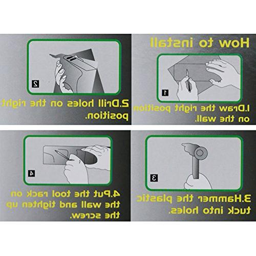 ONMIER Mop and Wall Mounted Hooks, Ideal for Garage