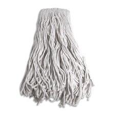 Mop Head, Refill, Cotton, 24 oz, 4-Ply, White, Sold as 2 Eac