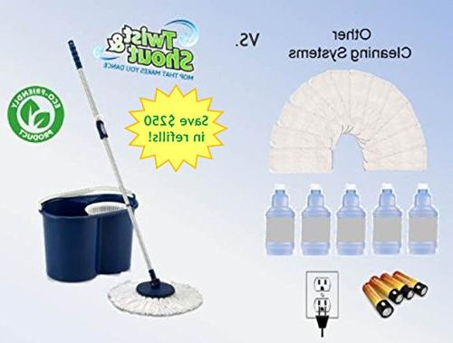 Twist and Shout - Edition Award-Winning Original Push Spin Mop - Time Warranty