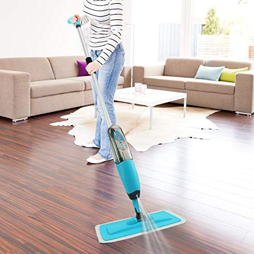 Kray Strongest Heaviest Duty Mop Set - Mop - 360 Spin Mop Integrated - Includes 3 Refillable 700ml Reusable