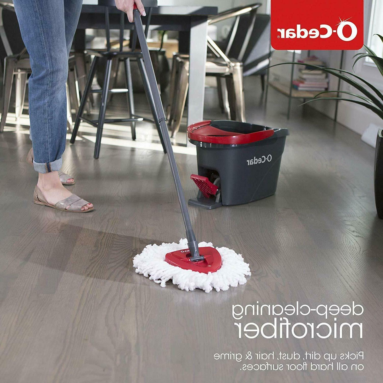 O-Cedar Spin Mop and Cleaning Floors