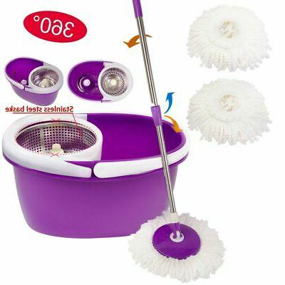 purple 2 heads 360 magic spin mop