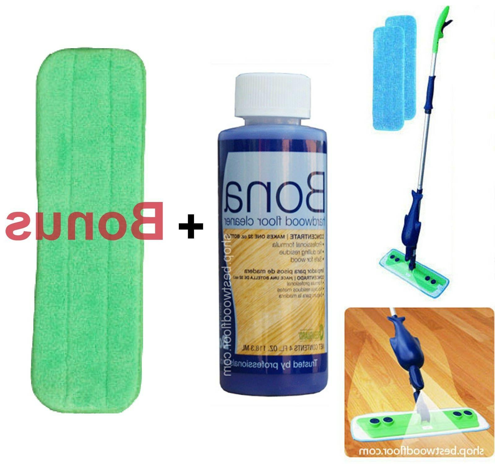 refillable spray mop kit with bona hardwood