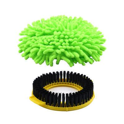 Stainless Steel 360º Spin 2 Microfiber Mop Green