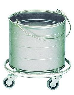 Royce Rolls Stainless Steel 6-Gallon Round Mop Bucket on 3""