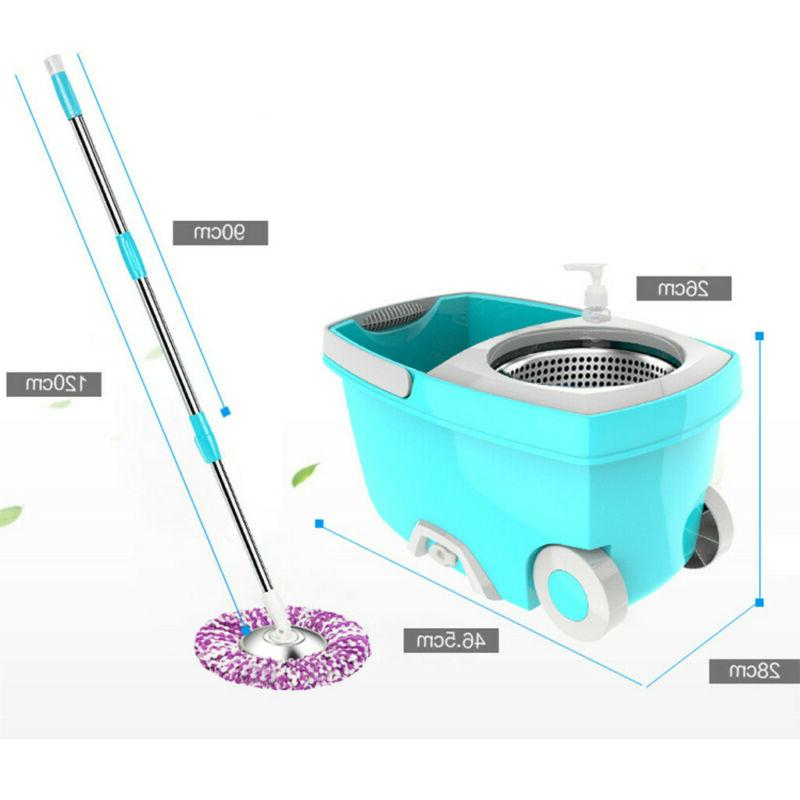 360°Spin Mop Stainless Bucket w/ Magic Head