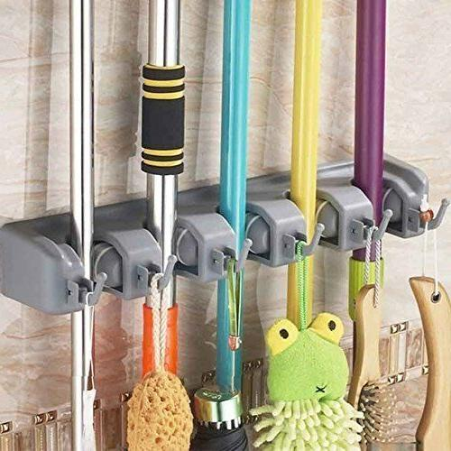 wall mounted non slide broom mop holder