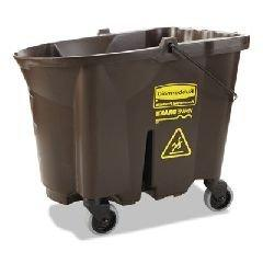 WaveBrake Bucket, 35 qt, Brown, Plastic, 20.1 x 16 x 17.4 -