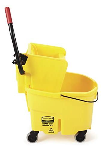 Rubbermaid Commercial WaveBrake System Wringer Combo, Yellow
