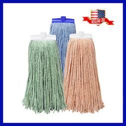 "Large 17"" Screw-On Premium Cotton Blend Wet Mop Heads Repl"