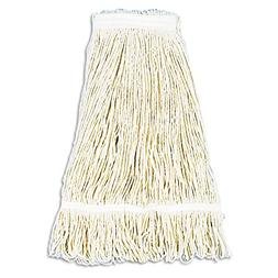 Pro Loop Web/Tailband Wet Mop Head  Rayon  24-oz.  White