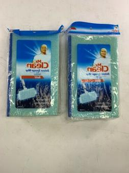 LOT OF 2 PACKS Mr. Clean Deluxe Sponge Mop with Scrubber Ref