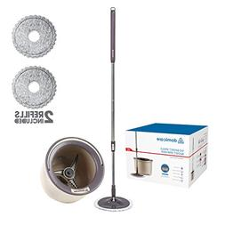DOMICARE 360° Magic Spin Mop and Bucket Set with 2 Replacem