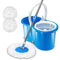HAPINNEX Easy Spin 360° Press Mop Bucket Set - Push & Pul