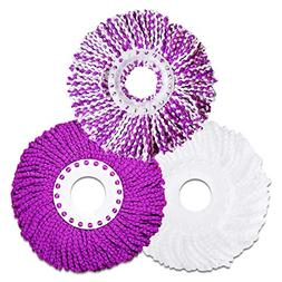 LEMNUY Microfiber Cotton Spin Mop Heads Replacement - 3 Pack