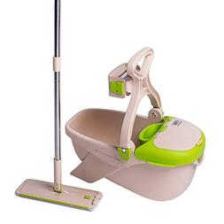 CQT Microfiber Mop Buckets Floors Cleaning System with 1 Ext