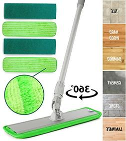 Microfiber Mop Hardwood Floor Cleaning - Washable Pads Perfe