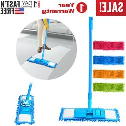 360° Microfiber Noodle Dust Mop Telescoping Pole Floor Easy