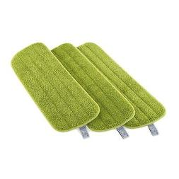 "Microfiber Mop Pad 3Pk - 17"" Wet and Dry Mop Head Refills fo"