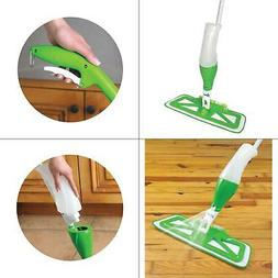 microfiber spray mop with scrub brush quickie
