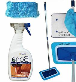 Microfiber Swivel Mop Base Kit / Bona Hardwood Floor Cleaner