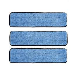 """3 Pack 18"""" Microfiber Wet Mop Refill Pads for Flat Microfibe"""
