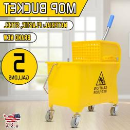 Mini Mop Bucket With Wringer 5 Gallon For Commercial-grade C