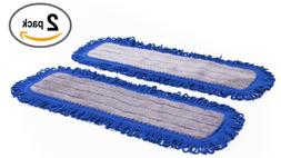 "18"" Mojave Microfiber Dust Mop Pads - 2 Pack 