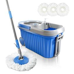 Mop and Bucket Set 8L Spin Mops Bucket with Wheels 3 Microfi