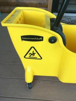 RUBBERMAID FG738000YEL Mop Bucket and Wringer,7.75 gal.,Yell