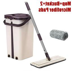 Mop Bucket Home Wash & Dry Flat All Floor Cleaning System wi