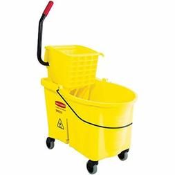 Mopping System Bucket Side Press Wringer Combo Wrings Mops 4