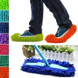 Multi-Function Chenille Fibre Washable Dust Mop Slippers Cle