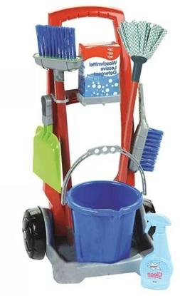 NEW Theo Klein Cleaning Trolley Toy Cleaning Set Pretend Pla