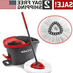 O-Cedar Easy Wring Spin Mop and Bucket Floor Cleaning System