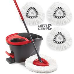 O Cedar Easy Wring Spin Mop & Bucket System with 3 Extra Ref