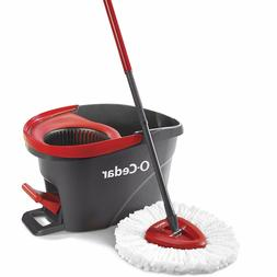 O-Cedar EasyWring Microfiber Spin Mop, Bucket Floor Cleaning