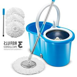 Premium All In One Stainless Steel 360 Spin Mop & Bucket Sys
