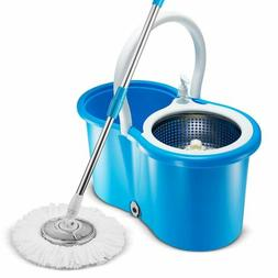 Premium All In One Stainless Steel 360 Spin Mop Bucket Syste