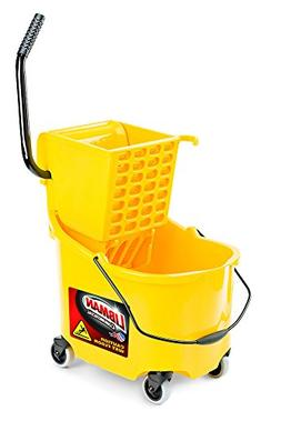 "Libman Commercial 933 26 quart Mop Bucket and Wringer, 36"" L"