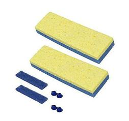 "Quickie Sponge Mop Refill 3 "" X 9 "" type S - 4 Pack ~ FREE S"
