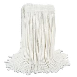 Boardwalk RM03024S Banded Rayon Cut-End Mop Heads, White, 24