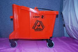 Rubbermaid Mop Bucket 26-35 Qt Triple S #7570-74 Orange with