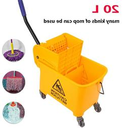 Rubber Bucket Wringer Mop Bucket Yellow Commercial Combo 20L